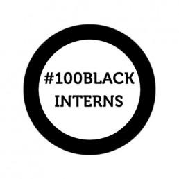 100 Black Interns logo